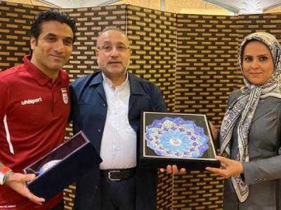 حضور اعضای تیم ملی فوتبال ساحلی در باشگاه ایرانیان